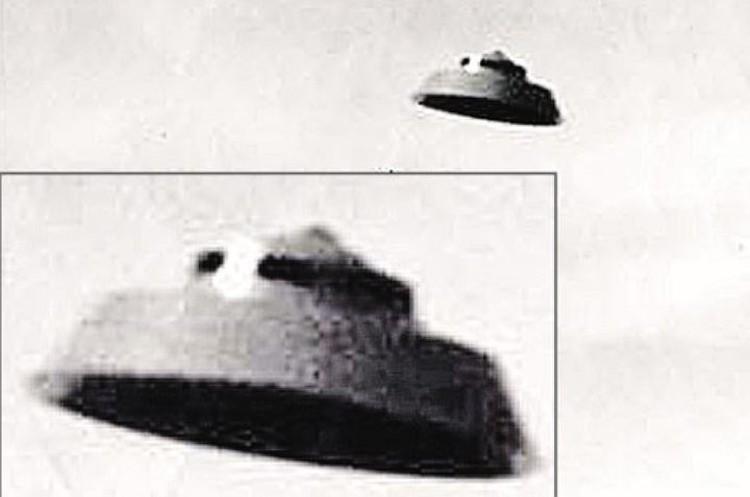 А это более старая модель «тарелки», снятая на фотокамеру в том же штате Юта, около города Прово, в 1966-м.