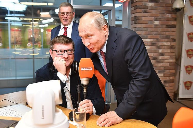 """Президент в прямом эфире обратился к слушателям Радио """"КП"""""""