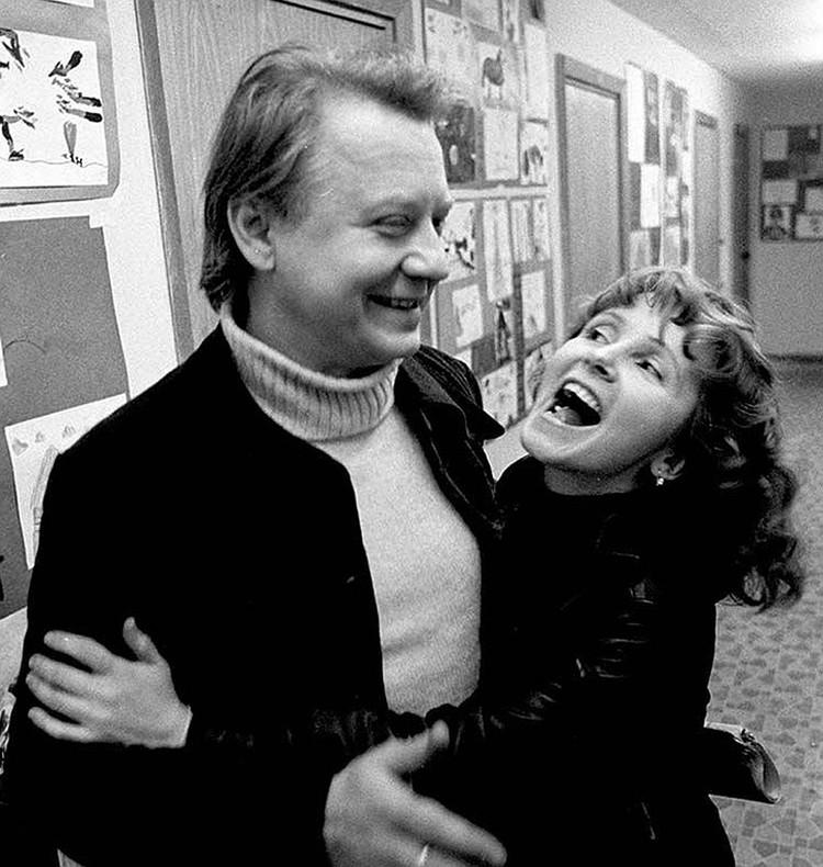 Олег Табаков с первой женой Людмилой Крыловой