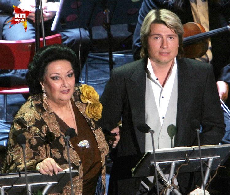 Монтсеррат Кабалье и Николай Басков на концерте в Санкт-Петербурге, 2006 год.