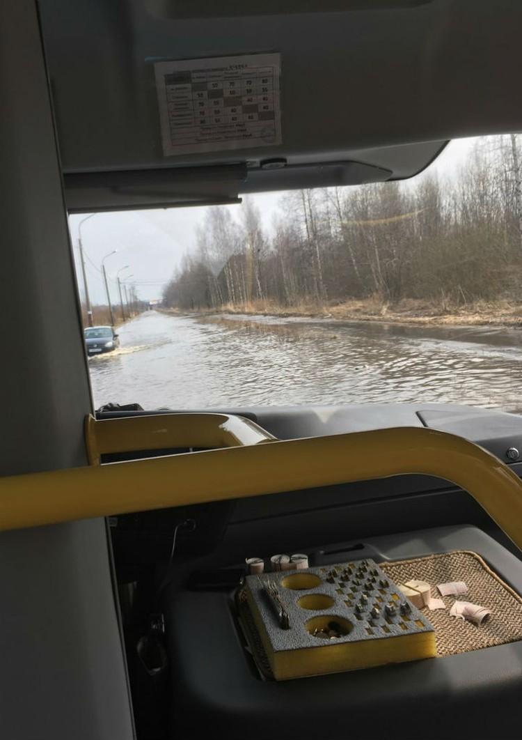 """В этой луже """"утонули"""" уже несколько машин. ФОТО: vk.com/welomonosovs."""