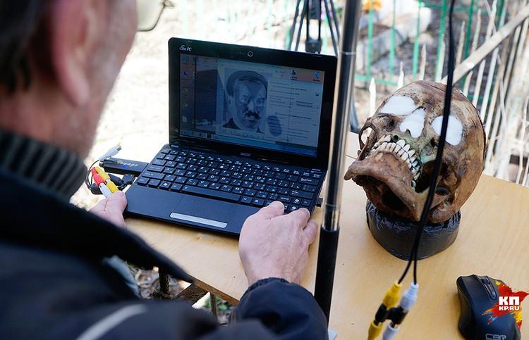 Портрет Семена и изображение его черепа совпало по 13-ти основным позициям