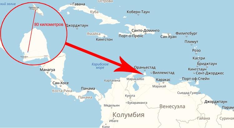 Маршрут соединяет принадлежащий Нидерландам остров Аруба и венесуэльский город Пунто Фиджо