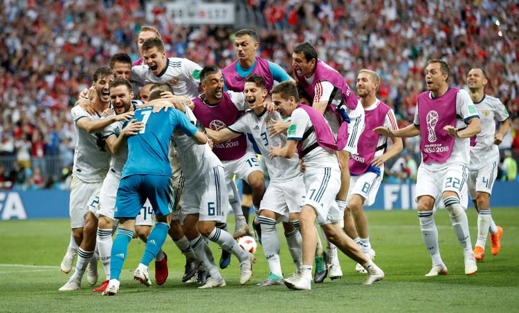Один из самых радостных моментов в истории российского футбола - победа над Испанией в 1/8 финала чемпионата мира.