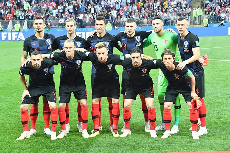 Игроки команды Хорватии.