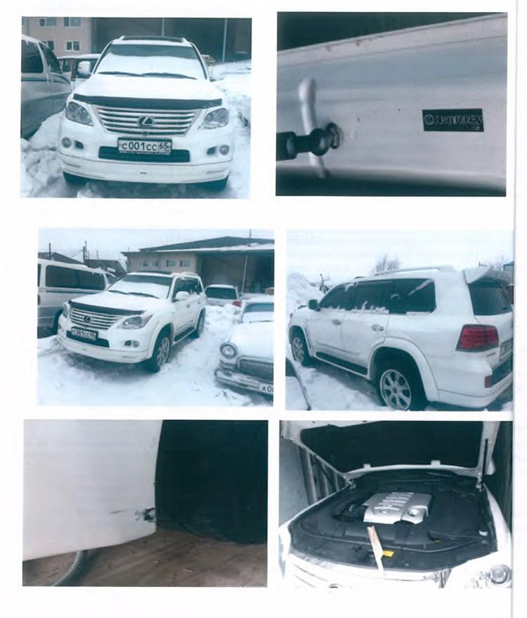 Автомобили принадлежали экс-губернатору Сахалинской области Александру Хорошавину
