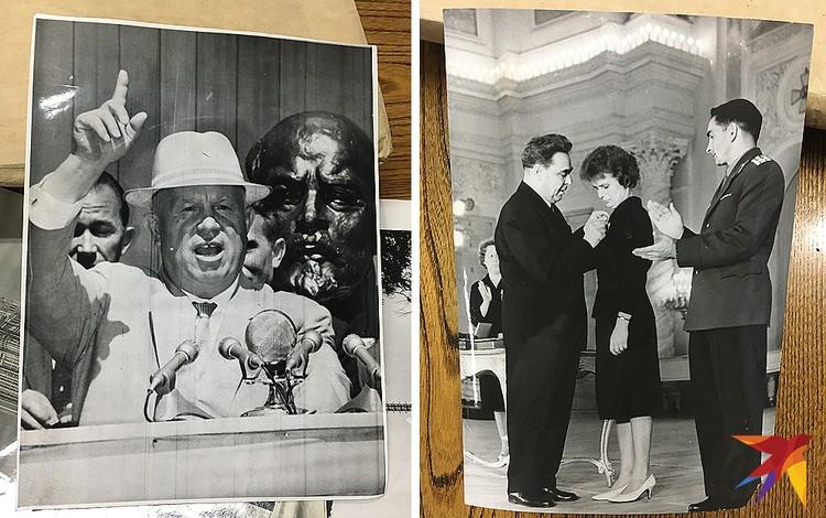 Еще снимки из архива газеты: выступление генсека Никиты Хрущева, Леонид Брежнев награждает первую женщину-космонавта Валентину Терешкову