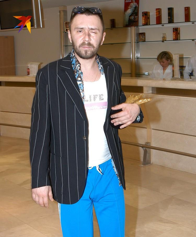 """Музыкант на вручении премии """"Ника"""", 2004 год."""