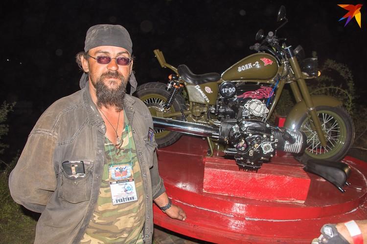 Мотоциклист Кот приехал на новом байке из Волгоградской области