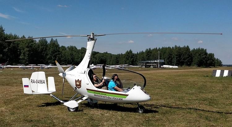 Полеты на автожире с пилотом заповедника Сергеем Кандауровым. Фото Алексея Бокия