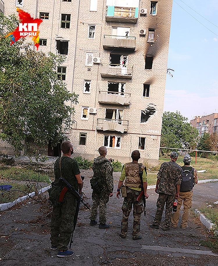 Дом, разбомбленный украинской армией