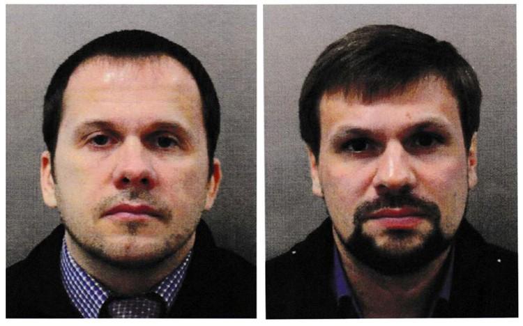 Снимок россиян, растиражированный британской полицией.