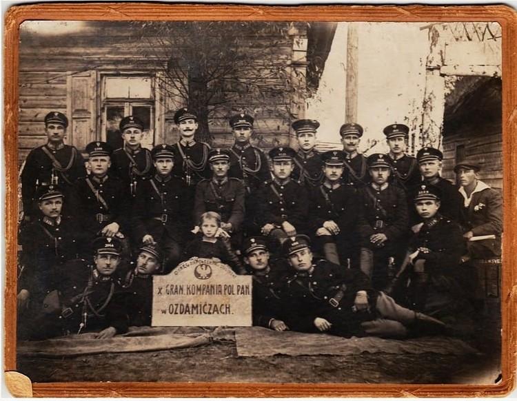 Польская полиция в Оздамичах, 1924. Фото: Franciszek Galemba, из архива Александра Пархомова.