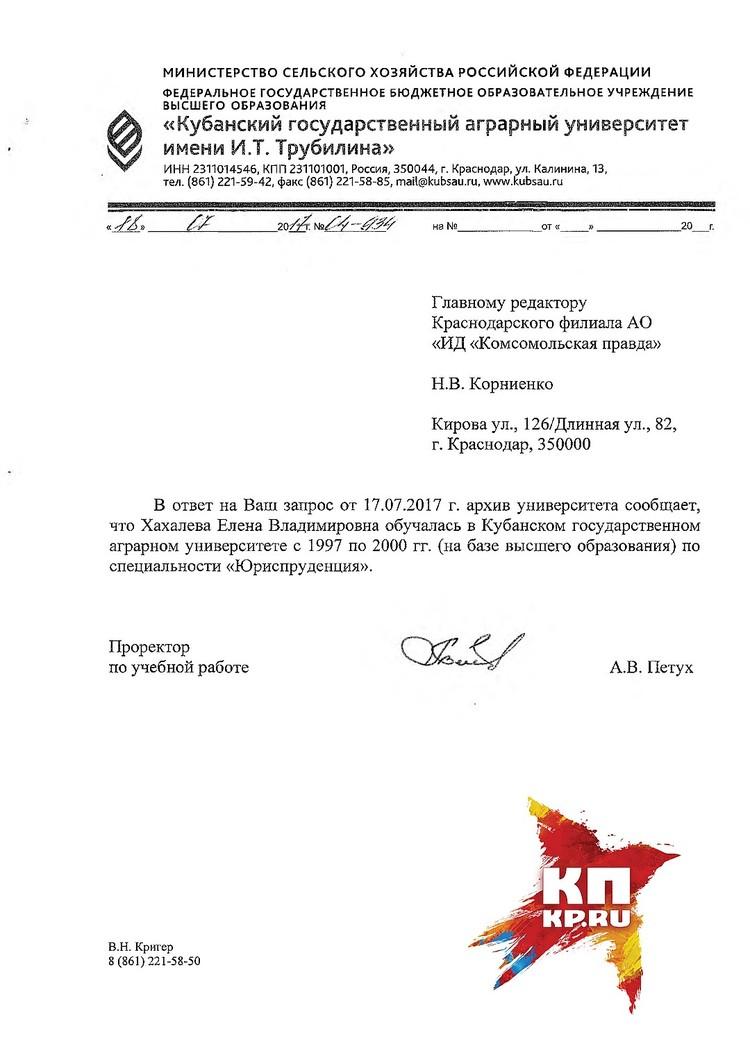 """В августе прошлого года """"КП"""" - Кубань"""" получила ответ из КубГАУ"""