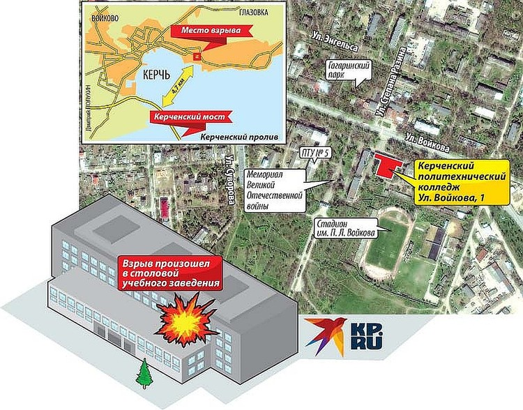 Схема массового убийства в керченском колледже