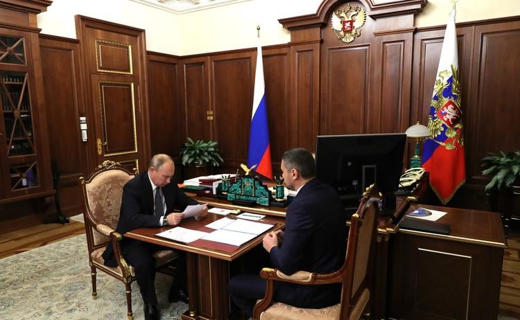 Обсуждали будущее Забайкальского края. Автор фото: пресс-служба Кремля