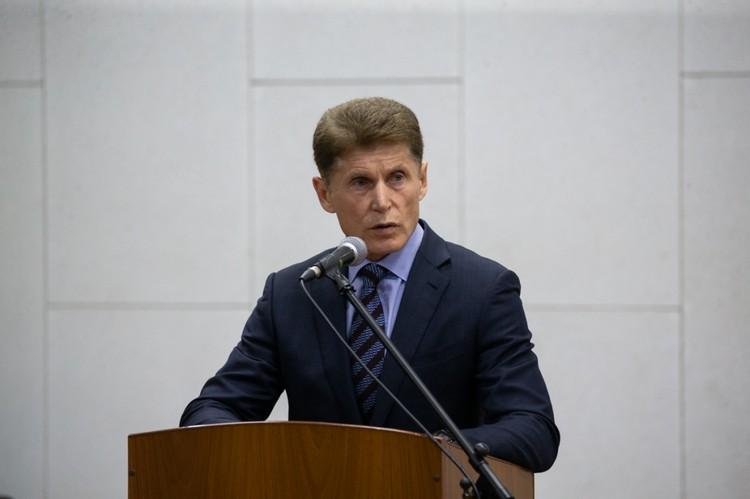 О намерении расширять торговые сети с продажей рыбы по доступной цене Олег Кожемяко высказался на встрече с жителями ЗАТО Фокино