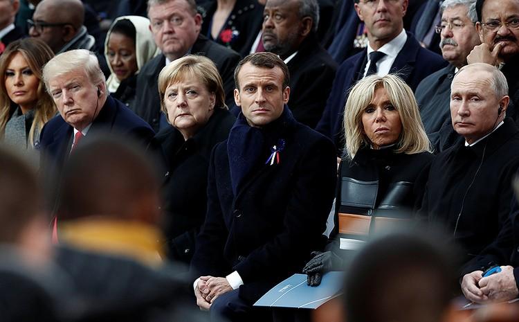 Мировые лидеры собрались во Франции по случаю годовщины окончания Первой мировой войны.