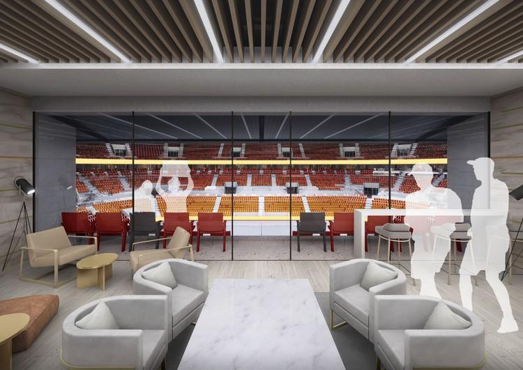 Внутри арены будут находиться 40 скайбоксов для наблюдения за игрой. Фото: УГМК