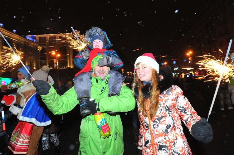 Гулянья в новогоднюю ночь устроят в шести районах.