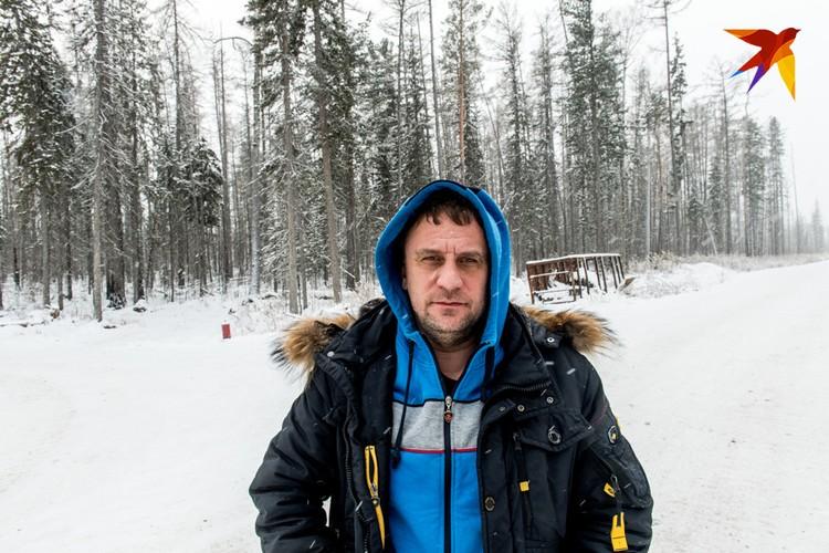 Журналист «Комсомольской правды» Владимир Ворсобин в тайге.