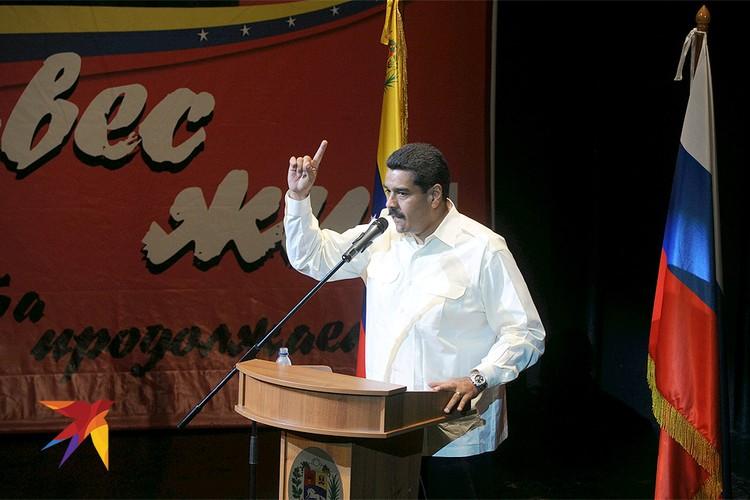 2013 год, Московский театр `Новая опера`. Концерт памяти президента Венисуэлы Уго Чавеса, выступает Николас Мадуро.