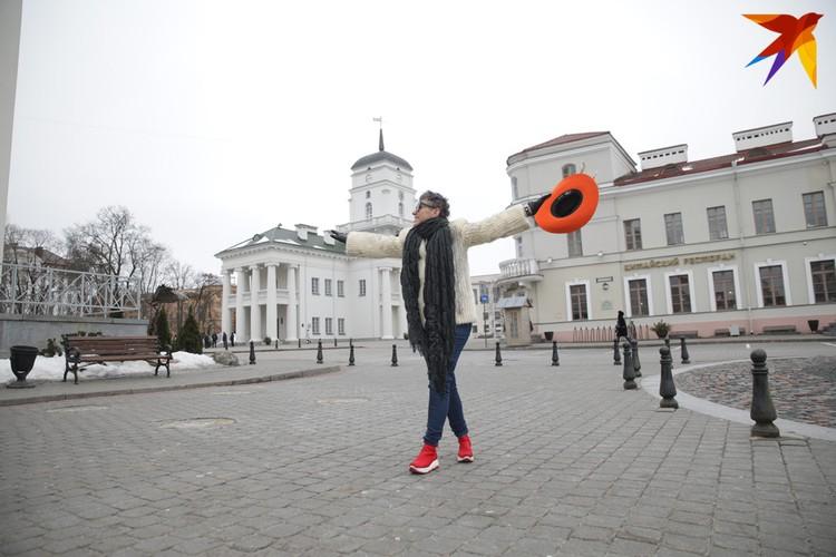 Эллина говорит, что Минск невероятно наполнил ее вдохновением и энергией