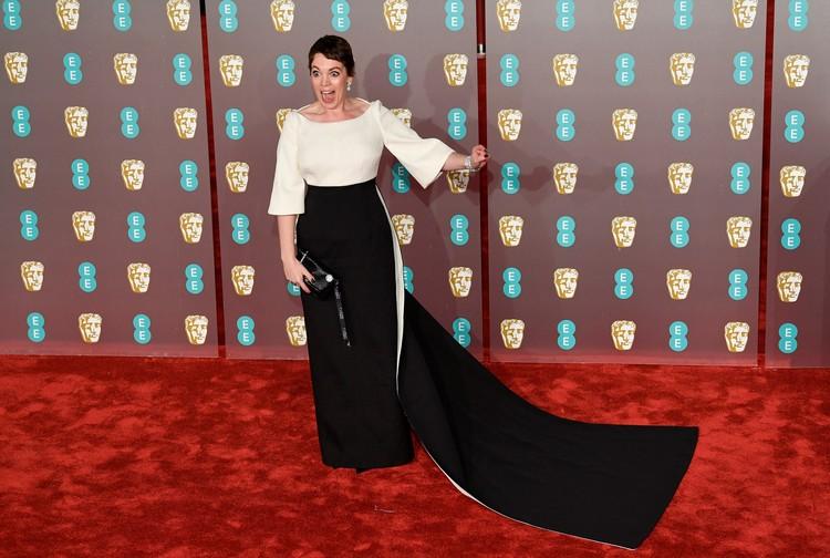 Оливия Колман на церемонии вручения премии BAFTA
