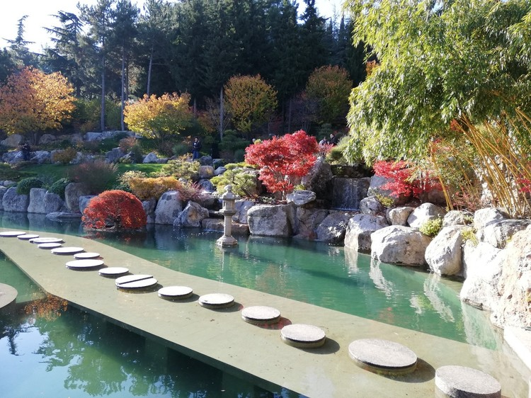 Экскурсия по японскому саду стоит 5 тысяч рублей на пятерых человек. Записыватсья нужно как минимум за сутки.