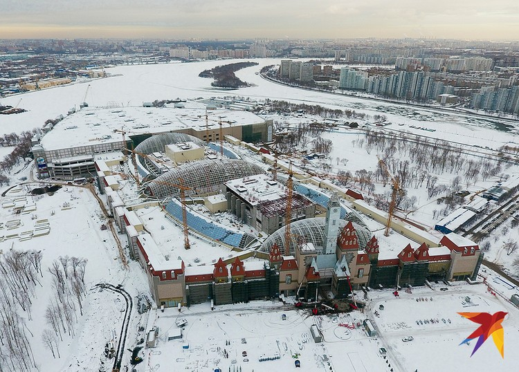 Вид с высоты позволяет оценить масштаб будущего парка.