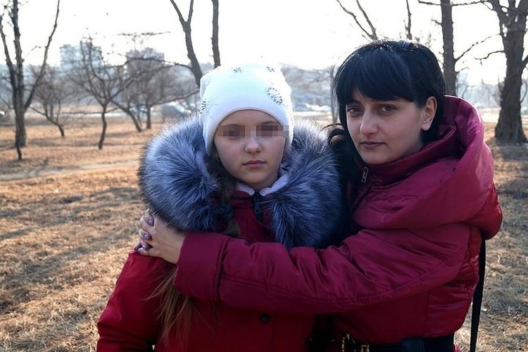 Кира Лысенко с дочерью.