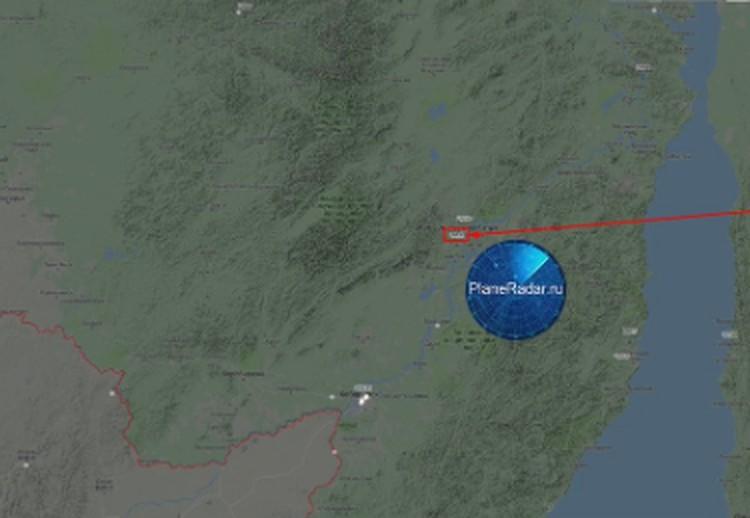 Самолет ВВС США совершил пролетел над территорией России. Фото: Твиттер PlaneRadar 