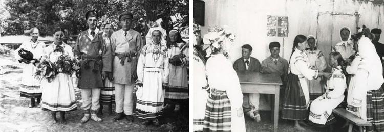 Юзеф Шиманчик снял на Полесье 1930-х элементы традиционной свадьбы. Фото: ivatsevichy.by