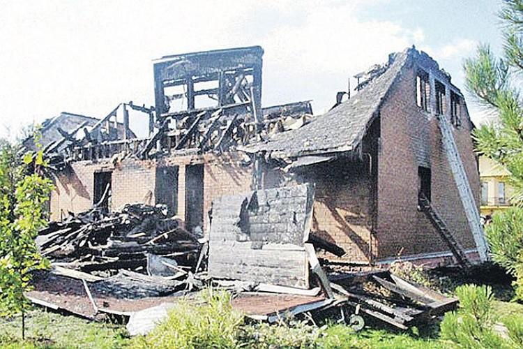 Дом Елены Переверзевой в Терехове выгорел дотла. Фото: ГУ СК по Московской области