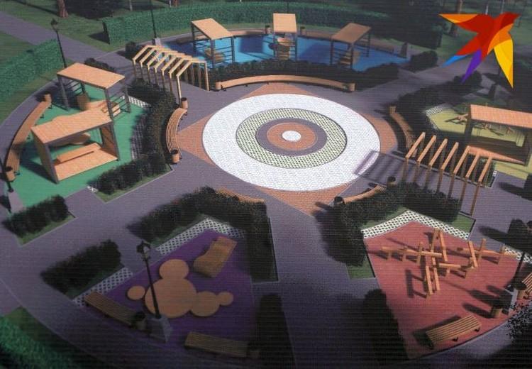 Таких детских площадок в парке будет три.