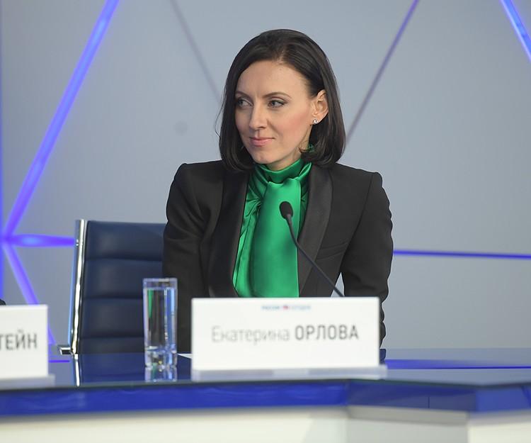 Глава российской делегации Екатерина Орлова