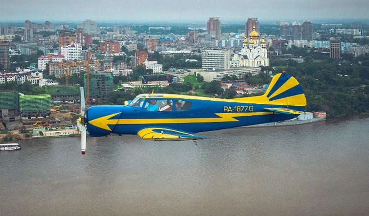 """В парке аэродрома был четырехместный Як-18С - ЕЭВС на базе Як-18Т. ФОто: аэродром """"Калинка"""""""