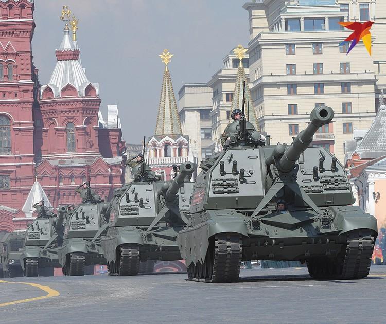 "Самоходные артиллерийские установки ""Мста-С""."