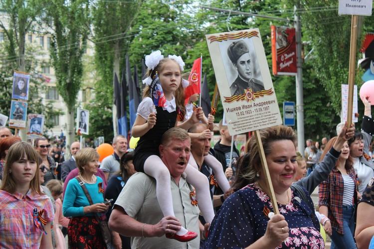 """В шествие """"Бессмертного полка"""" в Симферополе примут участие больше 40 тысяч человек."""