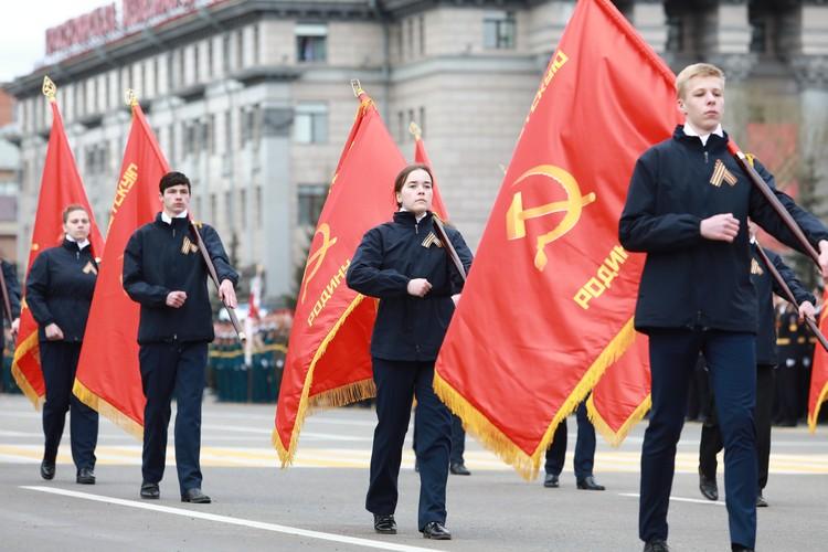 Знамена Победы - в руках молодых