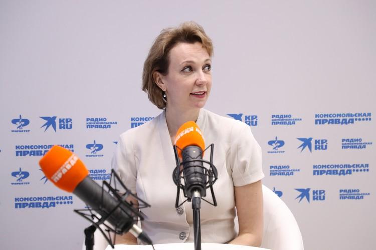 Наталия Гончар в открытой студии «КП» рассказала, как планируется ликвидировать Коркинский угольный разрез. Автор фото: Андрей ЗАХАРОВ