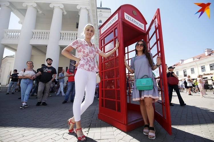 Один из главных символов Лондона - телефонная будка.