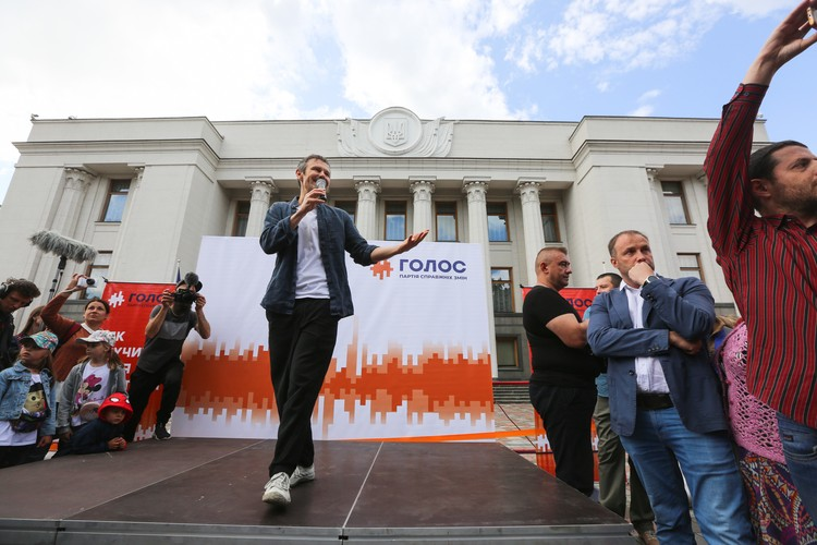 """Святослав Вакарчук агитирует за свою партию """"Голос"""""""