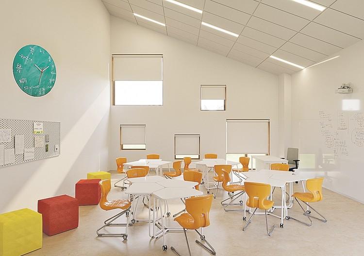 """В распоряжении учеников будут лаборатории, мастерские, студия, театр, спортзал и бассейн. Фото: пресс-служба образовательного комплекса """"Точка будущего"""""""
