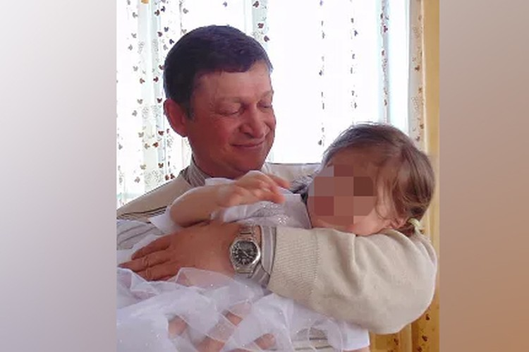 Азат Зарипов с дочерью.