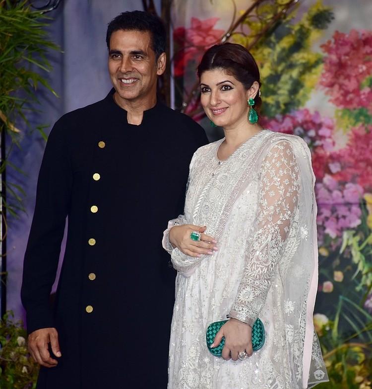 Акшай Кумар с женой Твинкл.