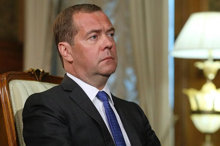 Премьер-министр правительства России Дмитрий Медведев. Фото Екатерина Штукина/POOL/ТАСС