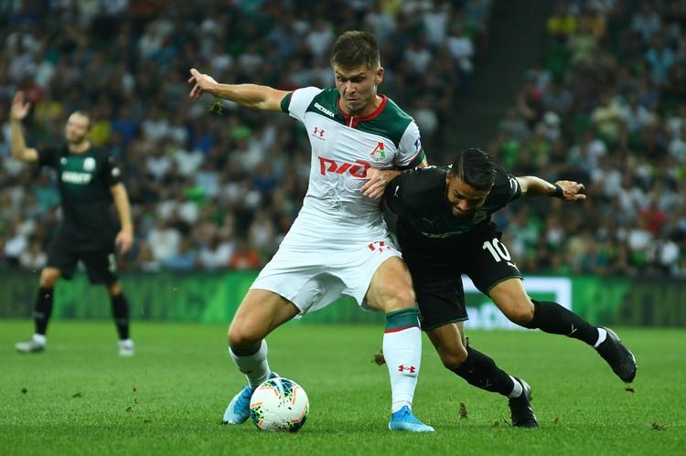 Краснодар и Локомотив сыграли вничью 1:1