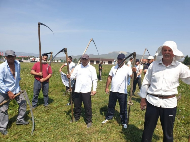 День косарей прошел на полях Зеленчукского района республики. Фото: сайт главы КЧР.