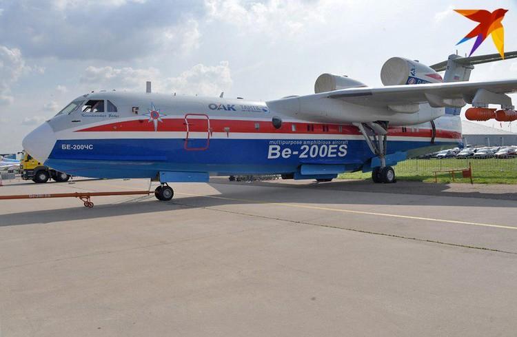 Реактивный самолет-амфибия Бе-200 предназначен для тушения лесных пожаров
